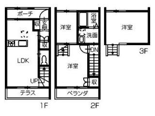 徳島市北田宮 アパート