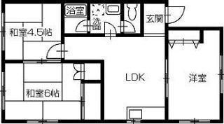 岡山市北区横井上 3LDKアパート