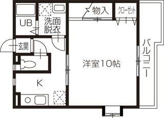 倉敷市日吉町 1Kアパート