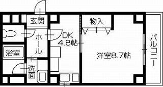 岡山市北区東古松1丁目 1DKマンション