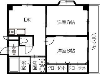 岡山市北区奥田本町 2DKマンション