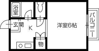岡山市中区平井2丁目 1Kコーポ