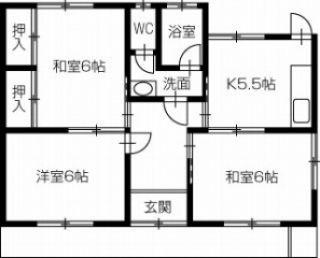 倉敷市連島中央3丁目 3K一戸建て