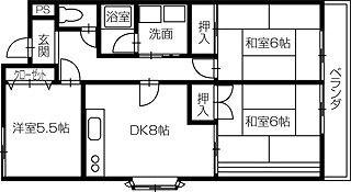 倉敷市林 3DKマンション