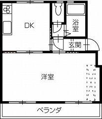 倉敷市福田町福田 1DKマンション