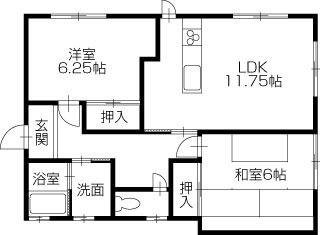 倉敷市連島町鶴新田 2LDK一戸建て