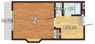 岡山市南区妹尾 1Kマンション