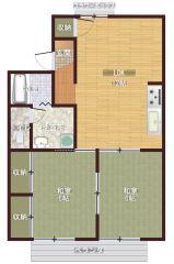 岡山市南区福田 2LDKアパート