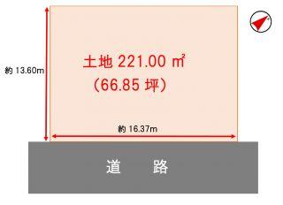 岡山市北区牟佐 土地-221.00m<sup>2</sup>