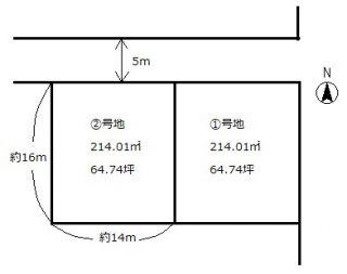 岡山市北区大窪 土地-214.01m<sup>2</sup>