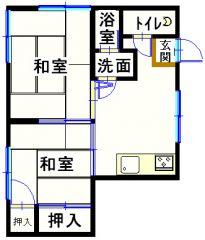 福山市住吉町 2DKアパート