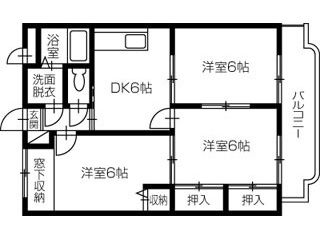 小松島市中田町 3DKマンション