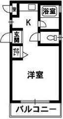 徳島市蔵本元町 1Kアパート