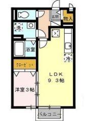 徳島市南島田町 1LDKアパート