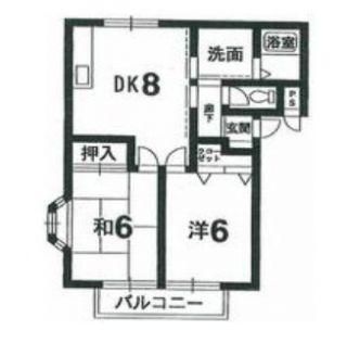 阿南市日開野町 2DKアパート