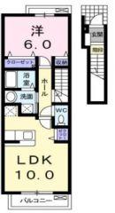 徳島市名東町 1LDKアパート