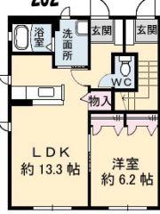 徳島市南沖洲 1LDKアパート