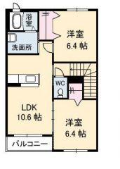 徳島市南沖洲 2LDKアパート