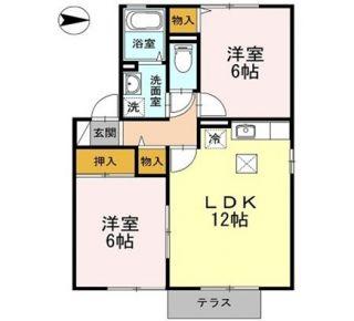 阿南市那賀川町上福井 2LDKアパート