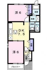阿南市那賀川町苅屋 2DKアパート