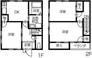 善通寺市生野町 3DKアパート