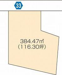 丸亀市土居町 土地-384.47m<sup>2</sup>