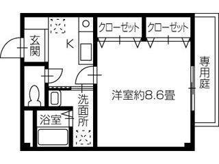 新居浜市江口町 1Kアパート