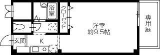 新居浜市平形町 1Kアパート