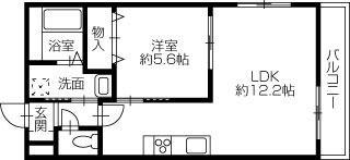新居浜市新田町 1LDKアパート