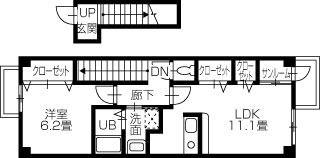 新居浜市下泉町 1LDKアパート