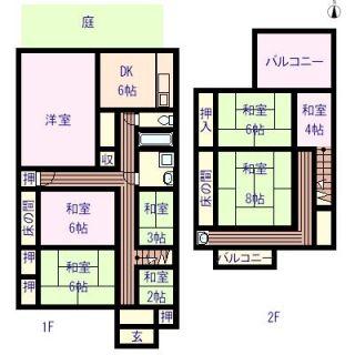 松山市住吉 5DK+S一戸建て
