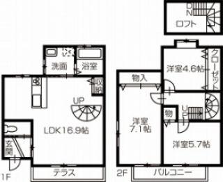 香南市野市町大谷 3LDK+Sアパート
