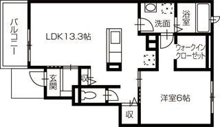土佐市蓮池 1LDKアパート