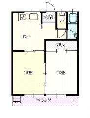 高知市高須新町3 2DKマンション