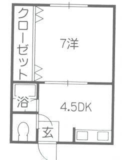 高知市桜井町2 1DKアパート