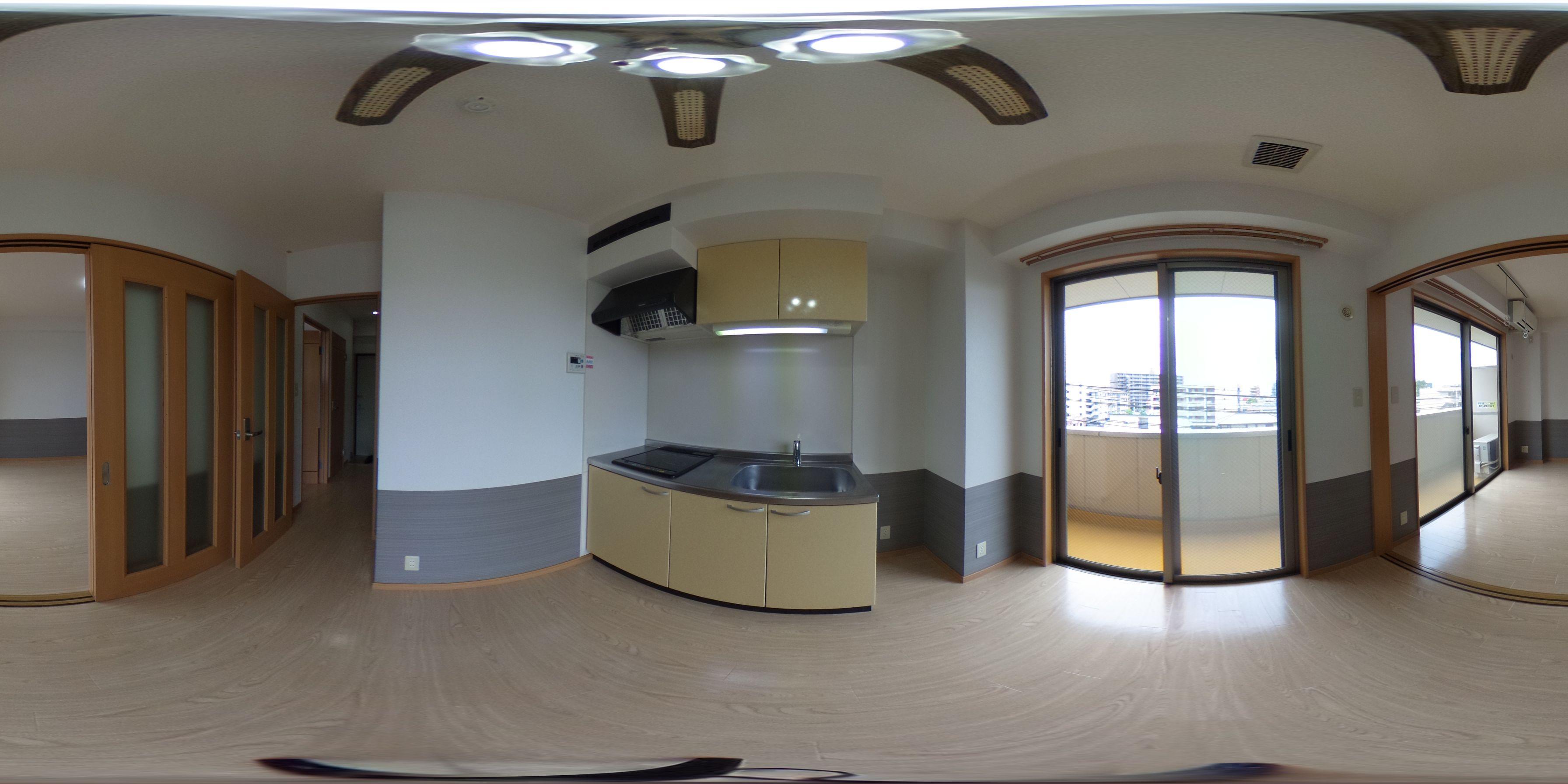 岡山市北区東古松1丁目 賃貸マンション 1DKパノラマ画像