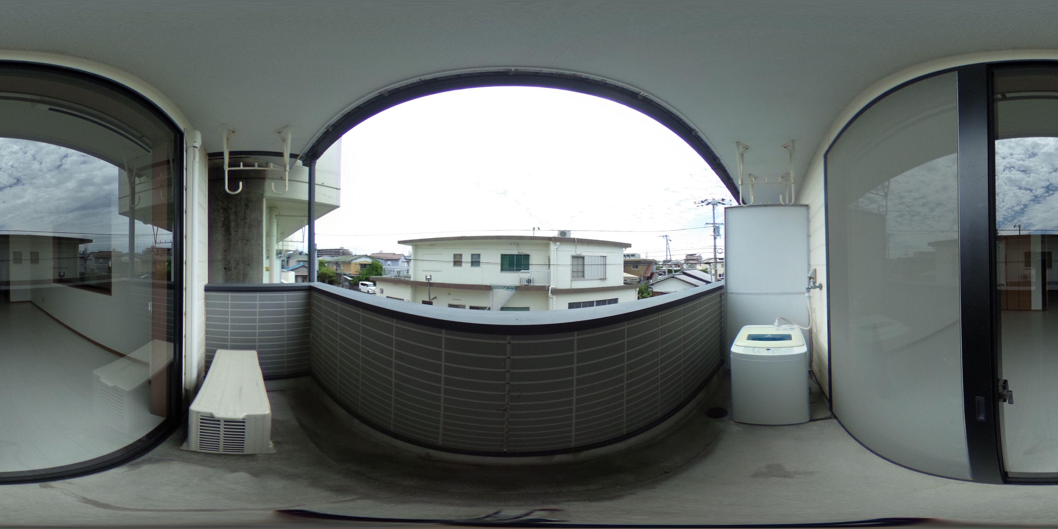 徳島市住吉 賃貸アパート 1Kパノラマ画像