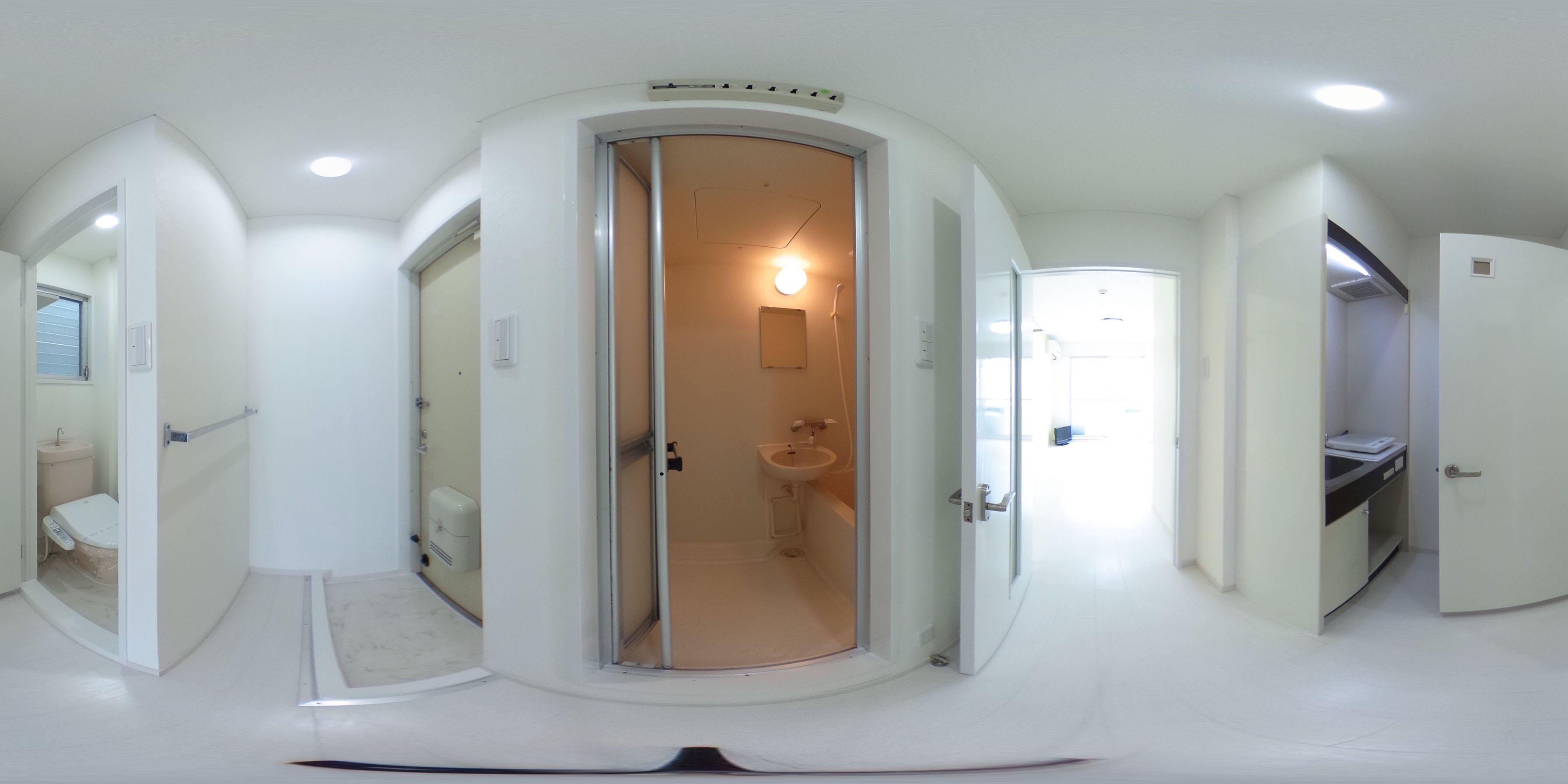 徳島市住吉 賃貸マンション 1Kパノラマ画像